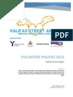 Halifax Street Angels - Volunteer Policies 2013 PDF