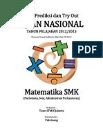 Soal Try Out UN MATEMATIKA SMK Pariwisata, Seni, Administrasi Perkantoran Paket 81