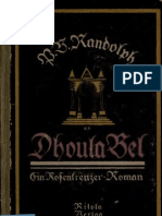 Dhoula Bel; Ein Rosenkreuzer-Roman (1922)