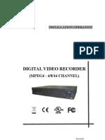 Mpeg4 Dvr Manual | Frame Rate | Usb Flash Drive on