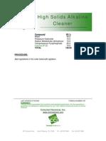 High Solids Alkaline Cleaner - 015