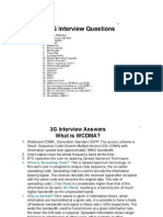 3g Interview Questions