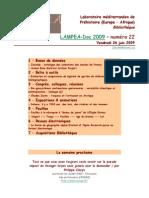 LAMPEA-Doc 2009 – numéro 22 / Vendredi 26 juin 2009