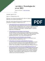 Funções de servidor e Tecnologias do Windows Server 2012