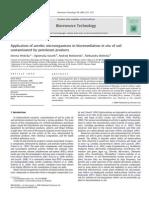 Application of Aerobic Microorganism in Bioremediation in Situ of Soil Contamined by Petroleum Produts