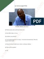 Transcripts Dr D Adams. Katherine Jackson  V AEG Live. August 21st 2013