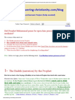 Did Prophet Muhammad Peace Be Upon Him Prescribe Camel Urine as Medicine