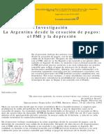 Cibils Weisbrot Kar.La Argentina desde la cesación de pagos.RE 192 Bis