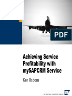 Achieving Service Profitability With MySAPCRM Service