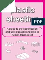 Plastic sheeting in humanitarian relief