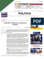 Rodolfo Walsh en la audiencia pública - Infonews | Un mundo, muchas voces