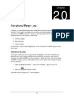 Chap 20 - Advanced Reporting