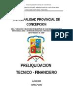 1.- Informe de Pre Liquidacion Concepcion