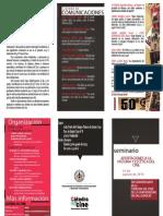 Programa Seminario Aportaciones a la historia y estética del cine. Valladolid 2013