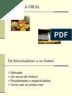 HISTÓRIA ORAL APRESENTAÇÃO