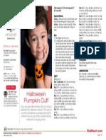 Halloween Pumpkin Cuff
