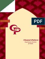 ChandPalace Parsippany Menu