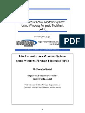 Live Forensics Using WFT   Computer Forensics   Command Line