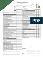 Check List Excavadora DEF