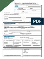 Cedula de Registro y Actualizacion de Datos 2013-2014