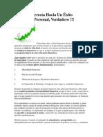 La Ruta Correcta Hacia Un Éxito Financiero Personal
