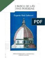 5185047 Eugenio Raul Zaffaroni en Busca de Las Penas Perdidas