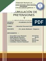 ACUMULACIÓN Y LITISCONSORCIO-TODO JUNTADO-UN PASO PARA EL GRAN FINAL