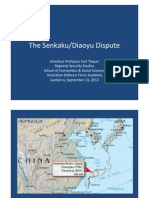 Thayer The Senkaku/Diaoyu Dispute