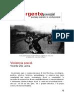 Violencia Social - El Emergente Psicosocial