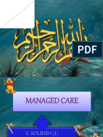 MANAGED CARE My Presentation
