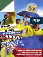 Folleto Academia CUP 2013