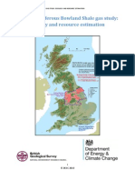 BGS DECC Bowland shale gas report Main Report