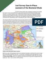 DECC BGS Bowland shale gas report Media Summary