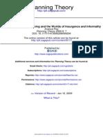 Ananya Roy. Planning Theory, Insurgence and Informality. 2009