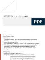 CAPM y Efficient Markets
