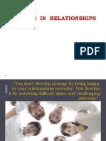Blocks in Relationship