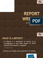 How to write gpod reports