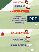 Lesson 19th - Maths