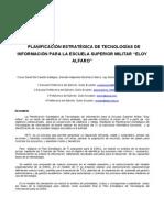 PLANIFICACIÓN ESTRATÉGICA DE TECNOLOGÍAS