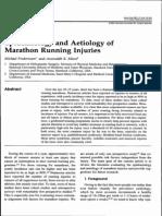 Epidemiology and Aetiology of Marathon Running Injuries - Fredericson and Misra, 2007