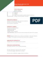 Estructura de CV