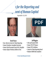 Standards for the Reporting and Management of Human Capital
