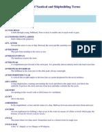Shipbuilding Terms