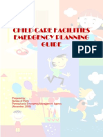 Child Care Facilities Emergency Planning Guide