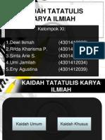 Kaidah Tata Tulis (2)