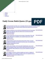 Emily Greene Balch Quotes - Iz Quotes