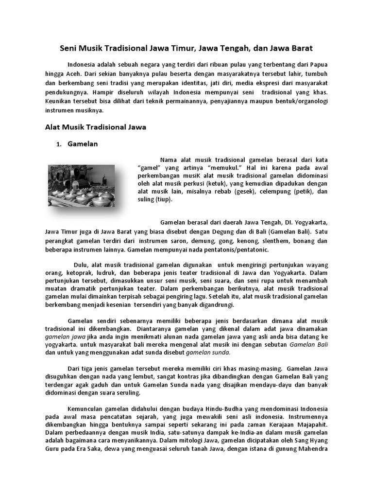 Seni Musik Tradisional Jawa Timur