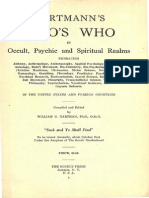1925 Hartmann Whos Who in Occult Psychic and Spiritual Realms r