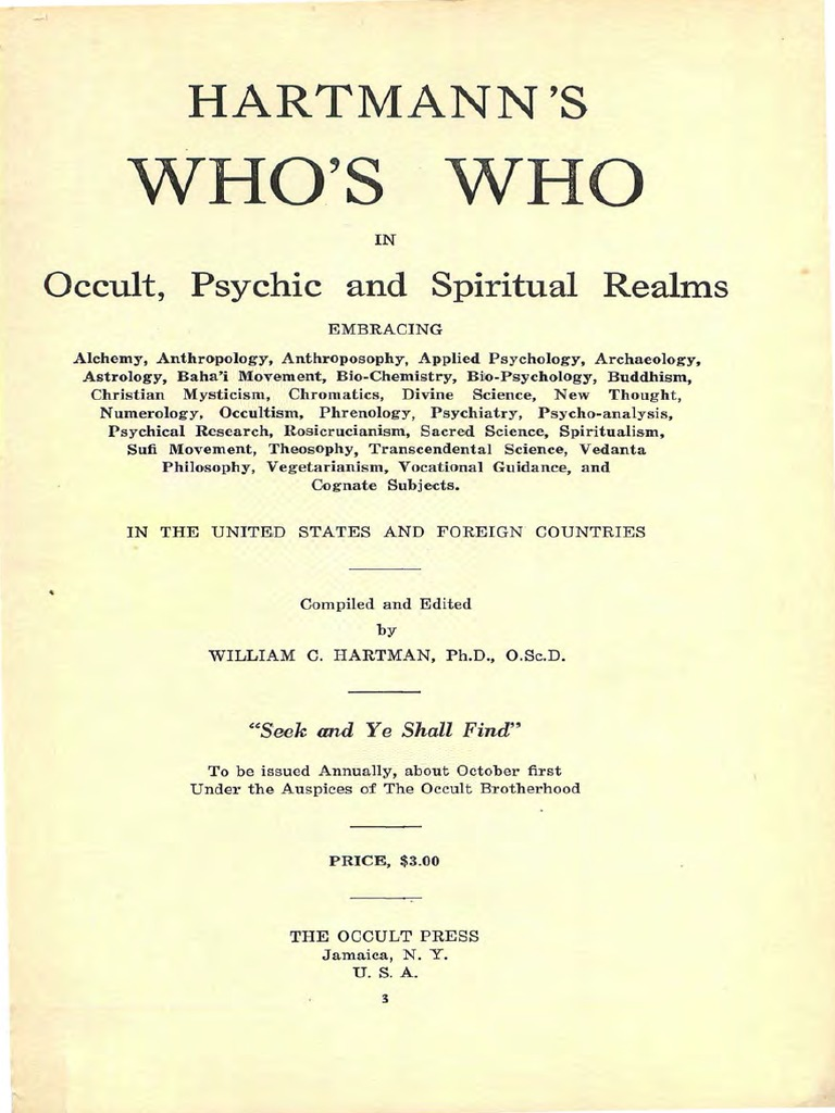 1925 hartmann whos who in occult psychic and spiritual realms r 1925 hartmann whos who in occult psychic and spiritual realms r spiritualism spirituality fandeluxe Images