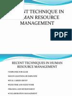 Latest HR Techniques